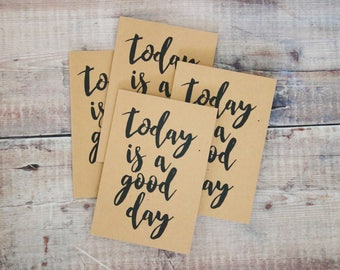 Today Is A Good Day Notebook - A6 Lined Pages Notebook - Travel Notebook - Jotter - Pad - School Supplies