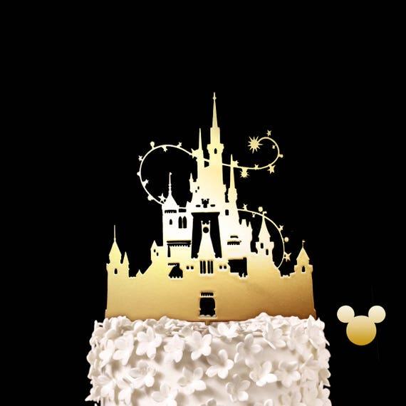 Disney Schloss Hochzeitstorte Disney Hochzeit Aschenputtels Schloss Andenken Hochzeitstorte Topper Disneyland Und Disneyworld Schloss