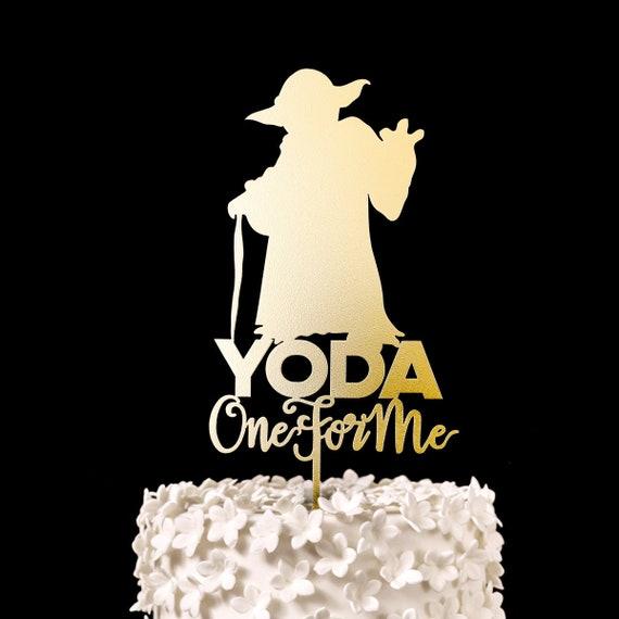 Yoda Ein Fur Mich Star Wars Hochzeitstorte Topper Andenken Etsy