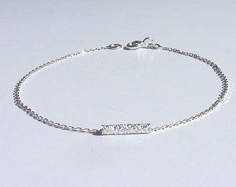 BRACELET chain 925 sterling silver minimalist Silver 925 made France silver bracelet, layering silver tube cheap gift mothers day