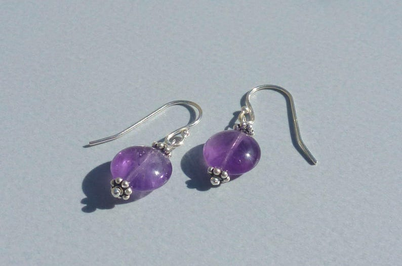 ff24ed561 AMETHYST Stud EARRINGS 925 sterling silver stones and silver | Etsy