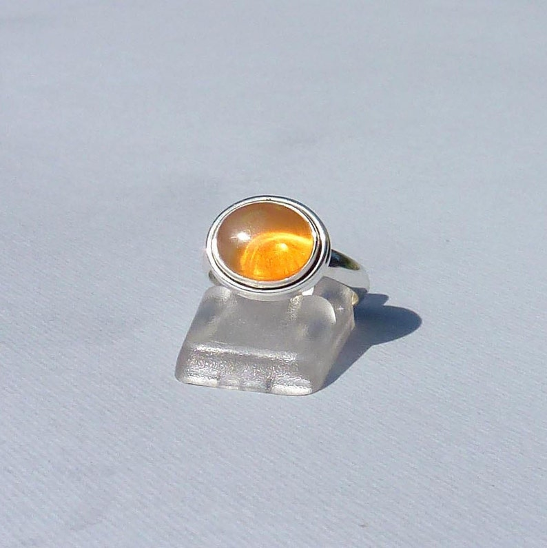 women rings stone ring ring man women size 7 Us ring size 55 gift ring CARNELIAN Silver 925 oval cabochon ORANGE gemstone