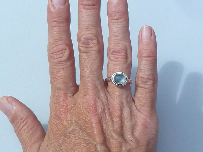 FLUORITE ring Silver 925 ring men ring women stone oval cabochon size 53 coralie silver minimalist ring to the Wonderland