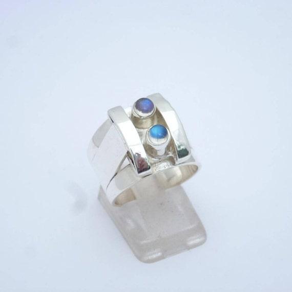 USA vendeur Ovale Turquoise Bague Argent Sterling 925 BEST DEAL Bijoux Taille 4