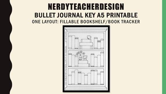 Bullet Journal Fillable Bookshelf Book Tracker