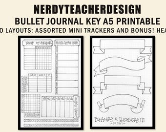 Bullet Journal Trackers (with Bonus File!)