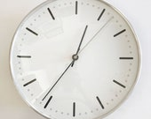Extremely Rare Mid Century Modern City Hall WALL CLOCK by Arne JACOBSEN for Gefa, 1956, Denmark