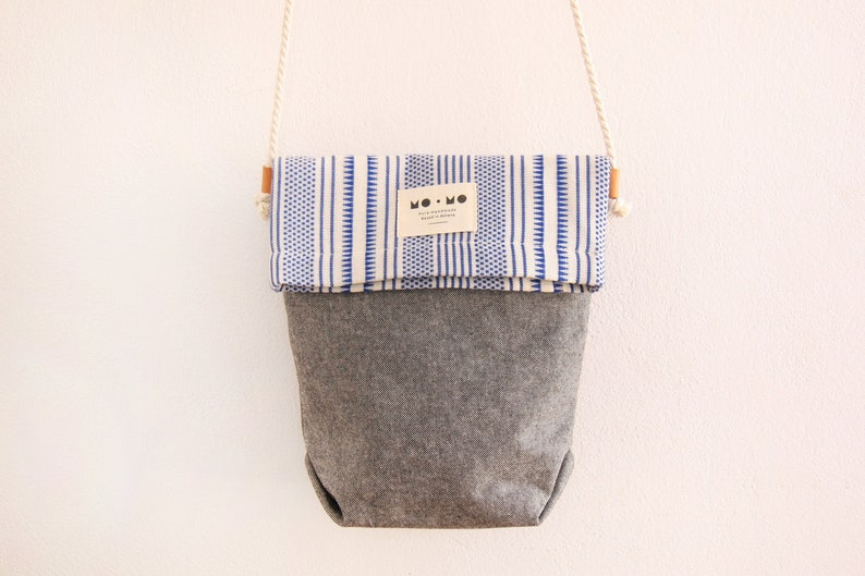 Fold Over Bag Greek Style Crossbody Bag