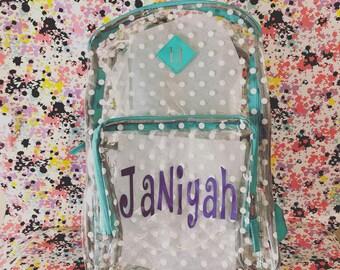 Clear backpack  f626122c565e3