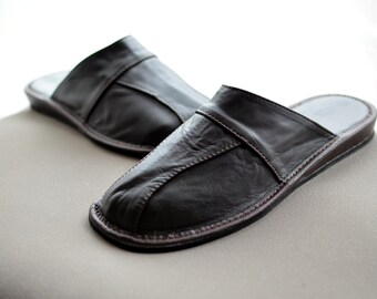 CALF SLIPPERS! Man slippers, calf leather slippers, man shoes, man leather shoes, calf leather shoes, black slippers