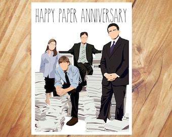 The Office - Paper Anniversary - First Anniversary Card