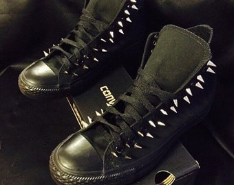 Spiked converse   Etsy