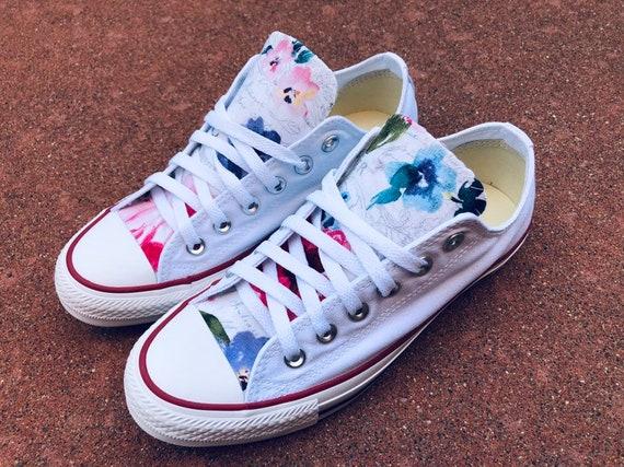 Floral Converse Chuck Taylor Shoes | Etsy