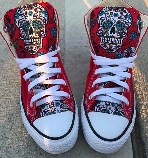 Sugarskull Converse Chuck Taylor Schuhe