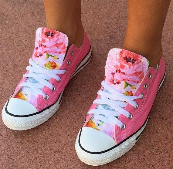 91efaabdc80b Floral Converse Shoes