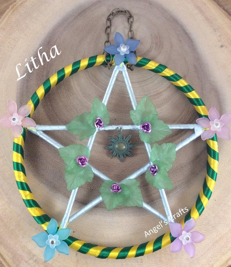 62561101f9c Summer solstice pentacle altar tool Litha sabbat pagan | Etsy