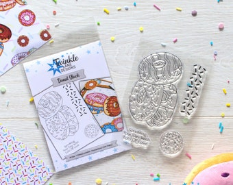Donut Stack, Clear Stamps