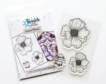 Cosmos, Flower Stamp, Clear Stamps
