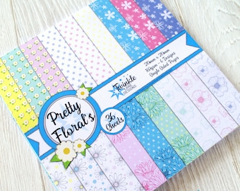 Pretty Florals Paper Pack, 210x210mm
