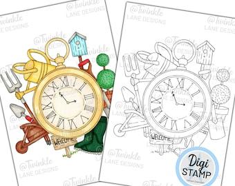 Time For Gardening, Digi Stamp