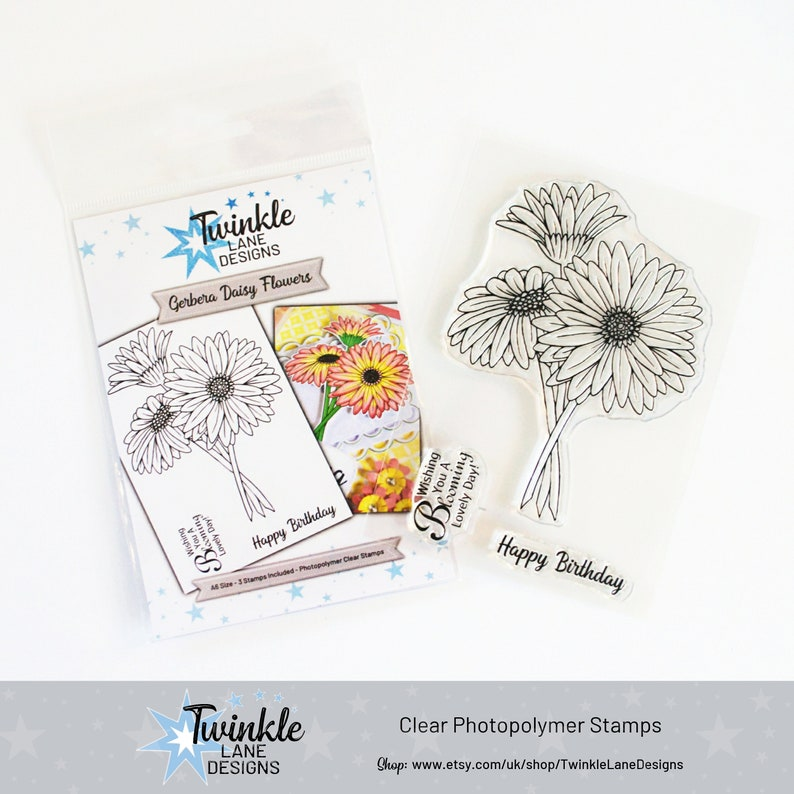Gerbera Daisy Flower Stamp Clear Stamps image 0