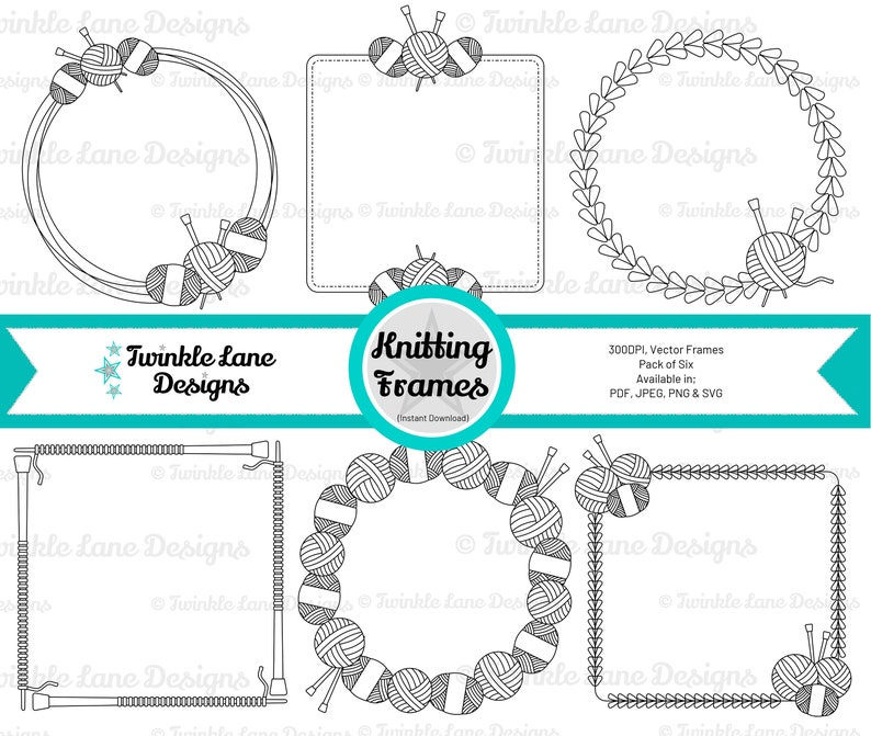 Knitting Frames SVG  Instant Download image 0