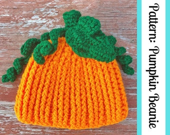 PATTERN ONLY || Pumpkin Beanie - Instant Download