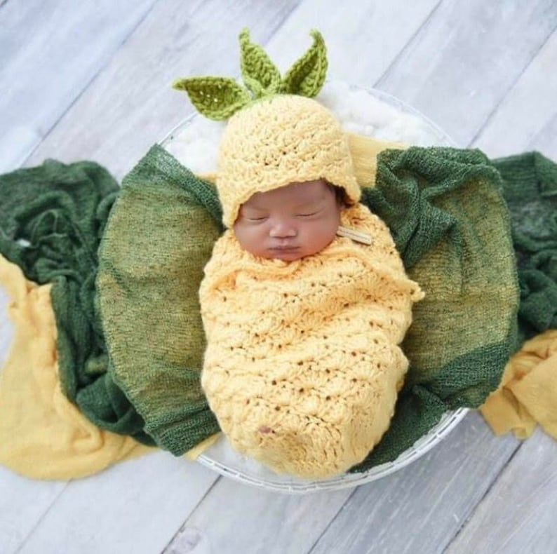 Crochet Pineapple Baby Fruit Costume