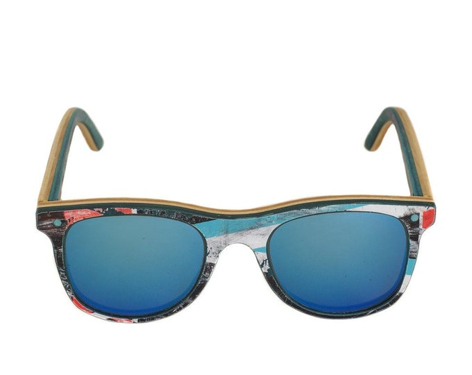 skateboard recycled sunglasses blue #BUMP