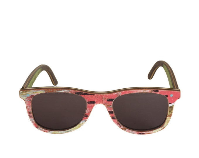 skateboards recycled 7PLIS sunglasses pink wooden
