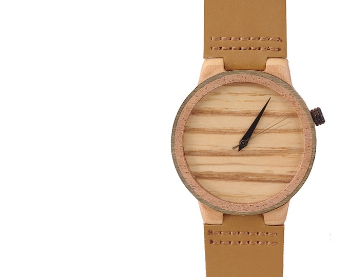 7PLIS watch #23 Recycled SKATEBOARD #madeinfrance brown wood
