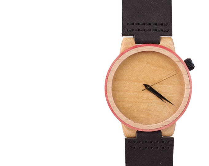7PLIS watch #158 Recycled SKATEBOARD #madeinfrance pink wood