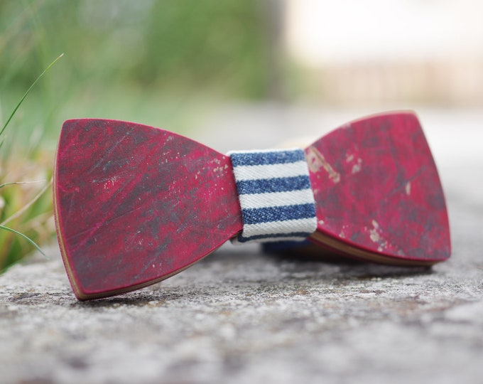 Bow tie recycled from Bordeaux red #skateboard