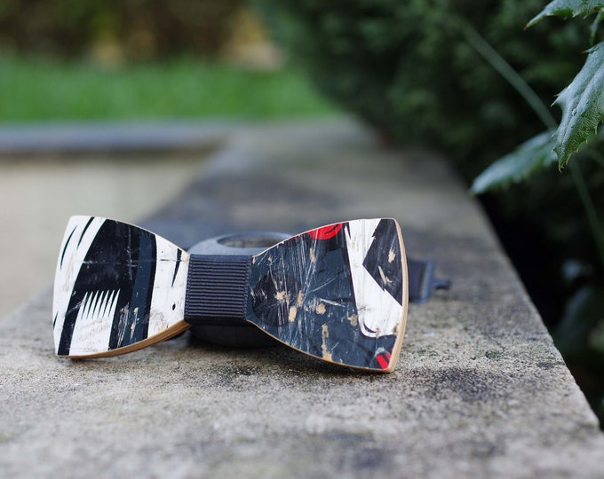 Bow tie recycled from black blue #skateboard