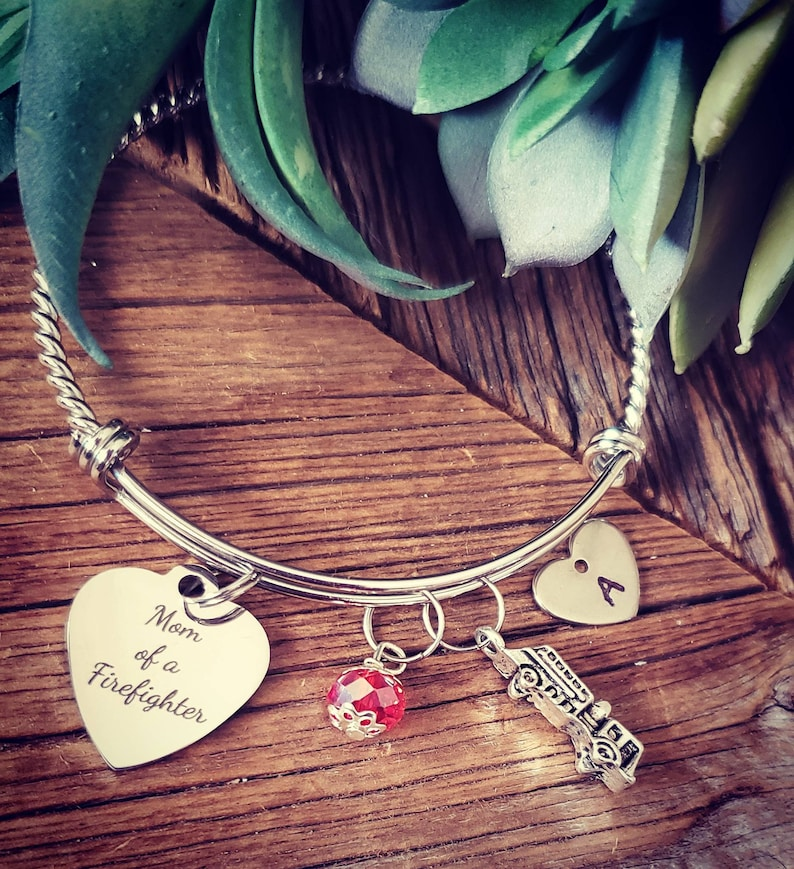 439006ab0c65b Firefighter bracelet, mom of a firefighter, charm bracelet, personalized  bracelet, personalized gift, gift for her, mothers gift, bracelets