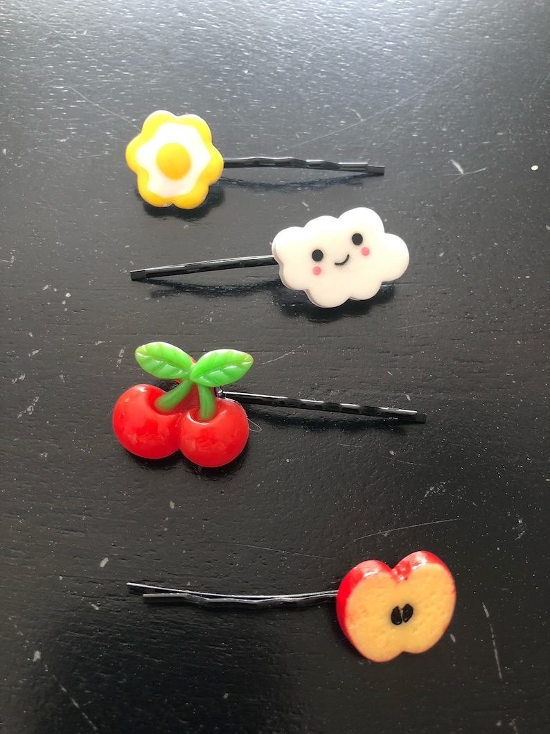 Food and Fruit Bobby Pin Hair Clips