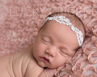 Newborn Lace Headband - Lace Baby Headband - Baby White Headband - Dainty Headband - White Headband - Baby Headband - Lace Headband