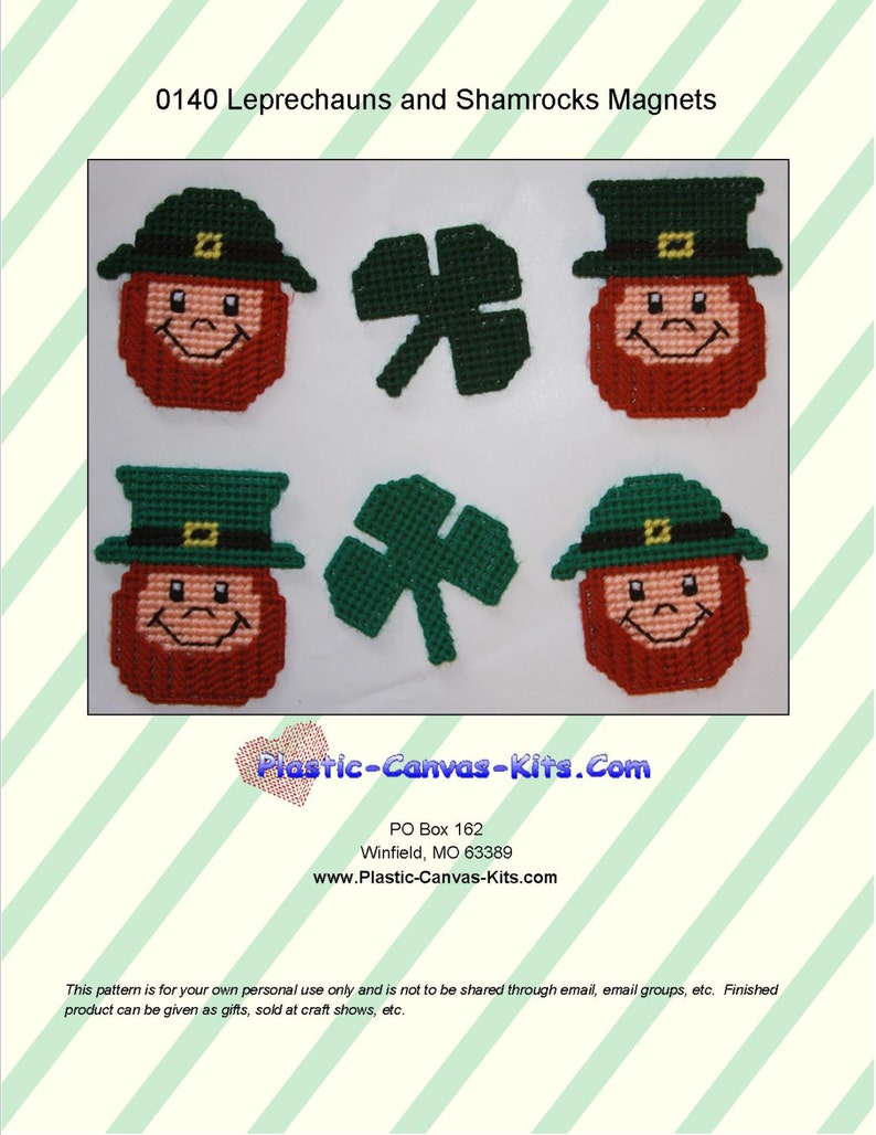 Leprechauns and Shamrocks Magnets
