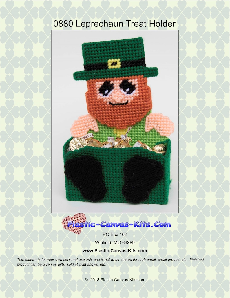Leprechaun Treat Holder Pattern