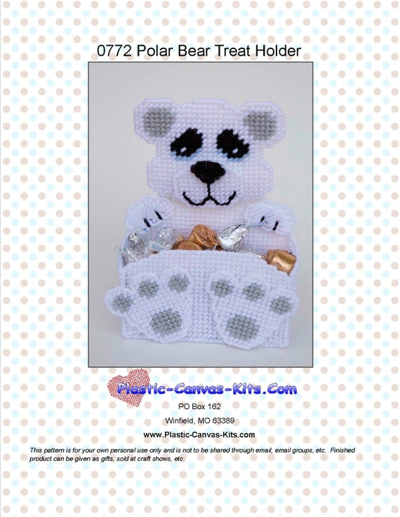 Polar Bear Welcome Sign Plastic Canvas Pattern or Kit