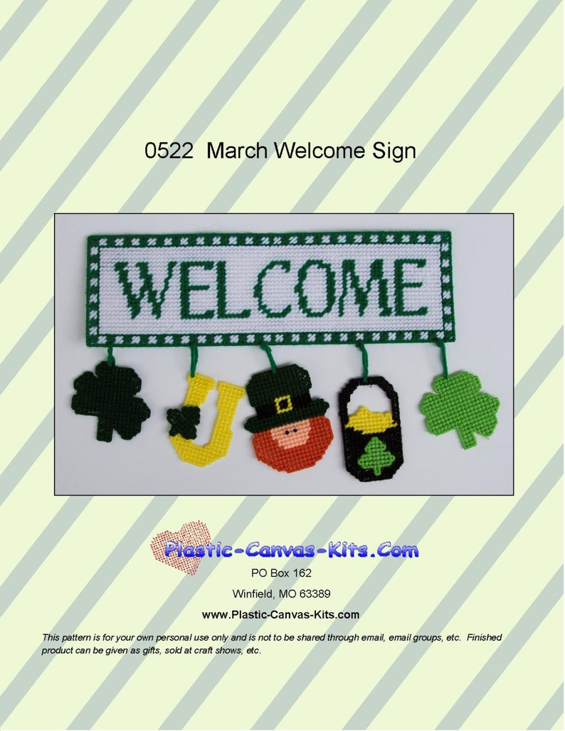 St. Patrick's Day Welcome Sign Pattern
