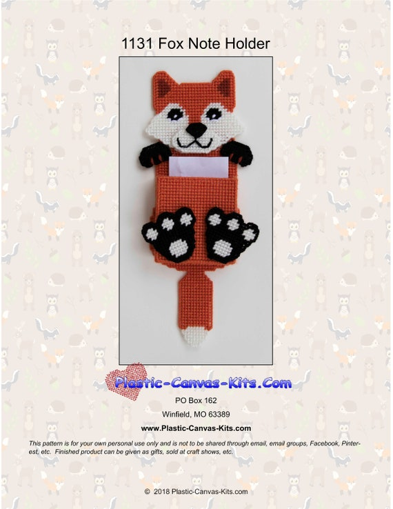 Plastic Canvas Pattern or Kit Cow Magnetic Note Holder