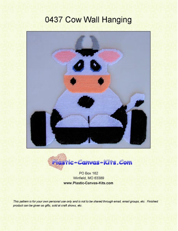 Valentine/'s Day Cow Treat Holder-Plastic Canvas Pattern or Kit