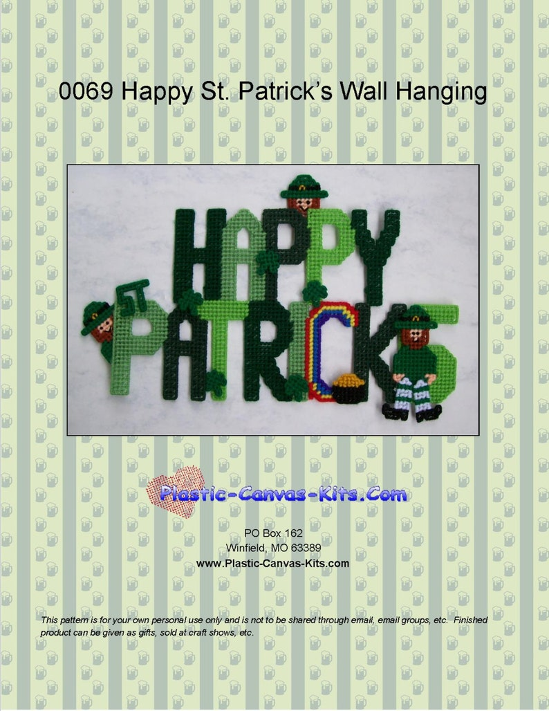 Happy St. Patrick's Day Sign Pattern