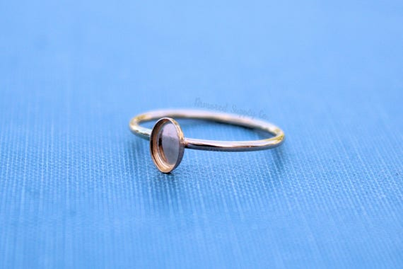 Cab Resin DIY jewelry supplies 6x4mm 925 Sterling silver Oval Bezel Gold plated Blank Ring 30x20mm Oval Cabochon Blank ring