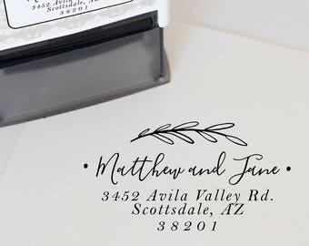 Custom Address Stamp, Self Inking Return Address Stamp, Personalized Address Stamp, Custom Stamp, Wedding address Stamp & invitation stamp
