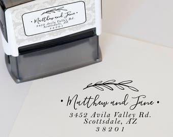 Custom Address Stamp, Wedding Address Stamp, Return Address Stamp, Self Inking Address Stamp, Self Ink Address Stamp, Housewarming Gift