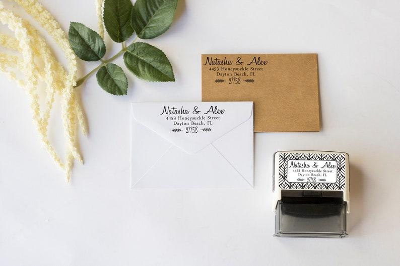 Rubber Stamp Self Inking Return Address Address Stamp Housewarming Personalized Wedding Gift Return Address Stamp Calligraphy Stamp