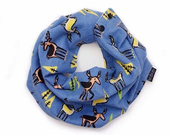 Baby Boy Bib Scarf / Blue Scarf / Scarf-bib / Boys Scarf / Reversible Scarf Bibs / Toddler Scarf / Baby Scarf / MiBaby Boutique