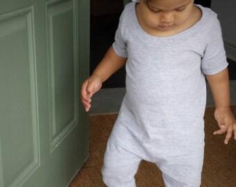 MiBaby Basics • Baby / Toddler T-shirt Romper • GREY